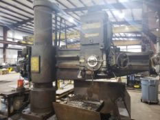 """RADIAL ARM DRILL, GIDDINGS & LEWIS BICKFORD CHIPMASTER 11"""" X 3', new 1974, box table, S/N 951-"""