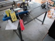 "LOT CONSISTING OF: Dayton 8"" double end grinder, Dayton Deburr machine & Vise Columbian (Location 2:"