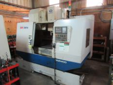 "CNC VERTICAL MACHINING CENTER, DAEWOO MDL. DMV3016, new 2003, Fanuc Series i CNC control, 17.7"" x"