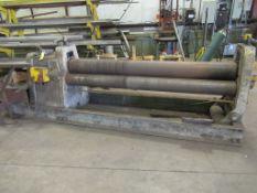 "PLATE ROLL, ¾"" X 8', 9"" top roll (Location 7: McCorvey Industrial Fabrication, 8610 Wallisville"