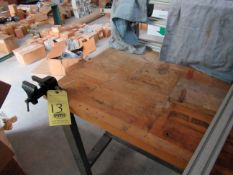 LOT OF WORKTABLES (2), (1) wood, w/small vise, (1) metal) (Location 2: JE King Holdings, LLC, 1111