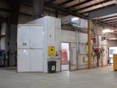 PAINT BOOTH, Binks booth w/FluidAire controls, has stand-Alone Fire Suppression system, (11)