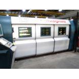 ADAPTIVE CNC FIBER LASER CUTTING SYSTEM, SALVAGNINI MDL. L3-30, installed 2015, SIX-CAN CNC control