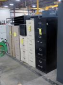 LOT OF FILE CABINETS, 4 & 5-drawer, assorted