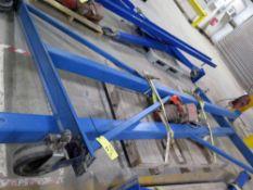 A-FRAME GANTRY CRANE, 2 T. CAP., Black Bear 2 T. cap. Mdl. YSL200 electric chain hoist