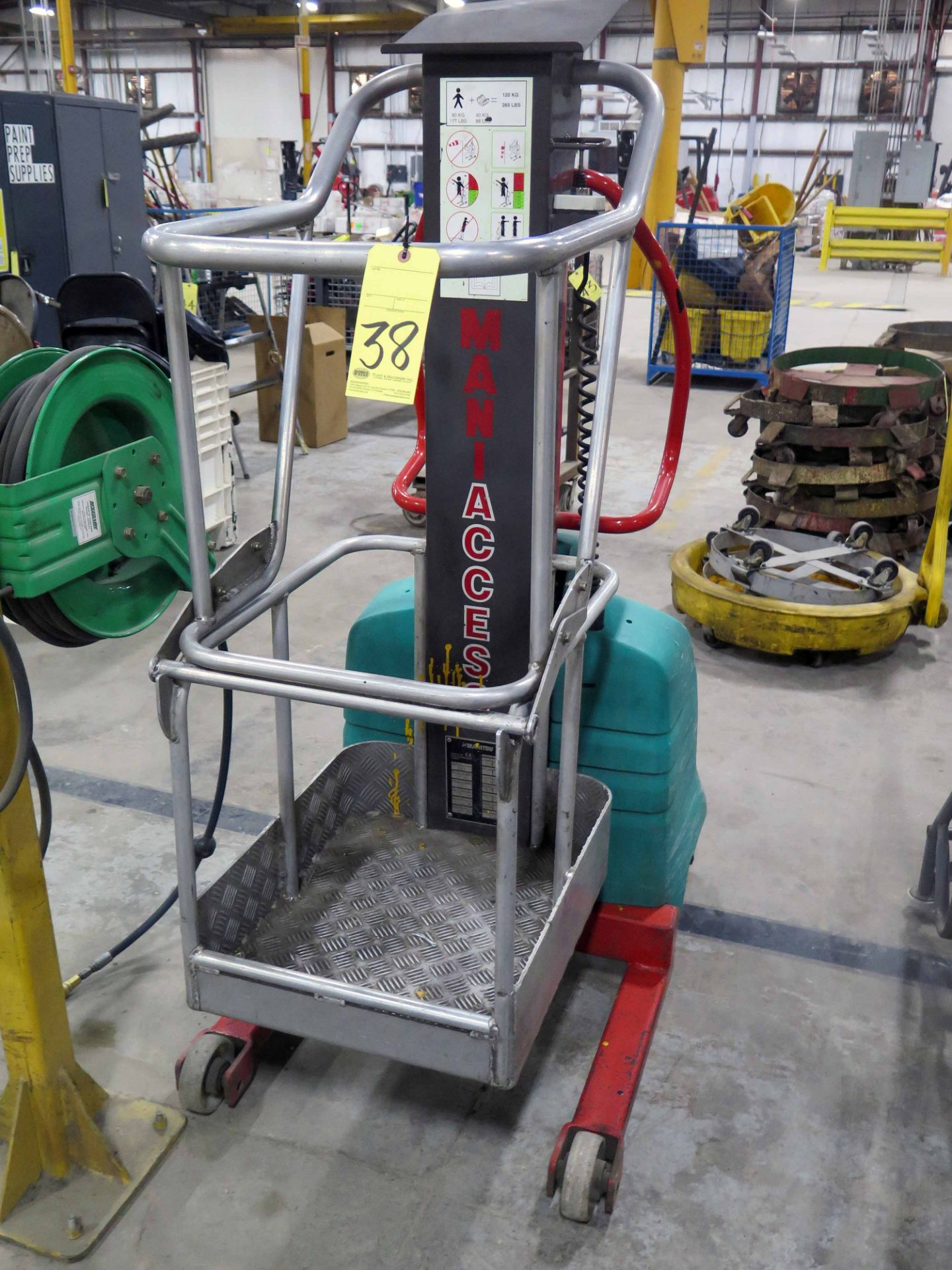 MANITOU ELECTRIC MANLIFT, MDL. SCALA, new 2005, 265 lb. cap., S/N 506986