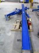 A-FRAME GANTRY CRANE, VESTI, 1/2 T. CAP., Coffing JLG 1 T. cap. electric chain hoist, S/N 61189356