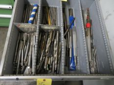 LOT CONSISTING OF: assorted drills & reamers (located in drawer 8)