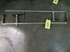 """LOT OF C-CLAMPS (2), 40"""" spread"""