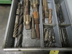 LOT CONSISTING OF: assorted drills, taps, reamers & threaded studs (located in drawer 10)