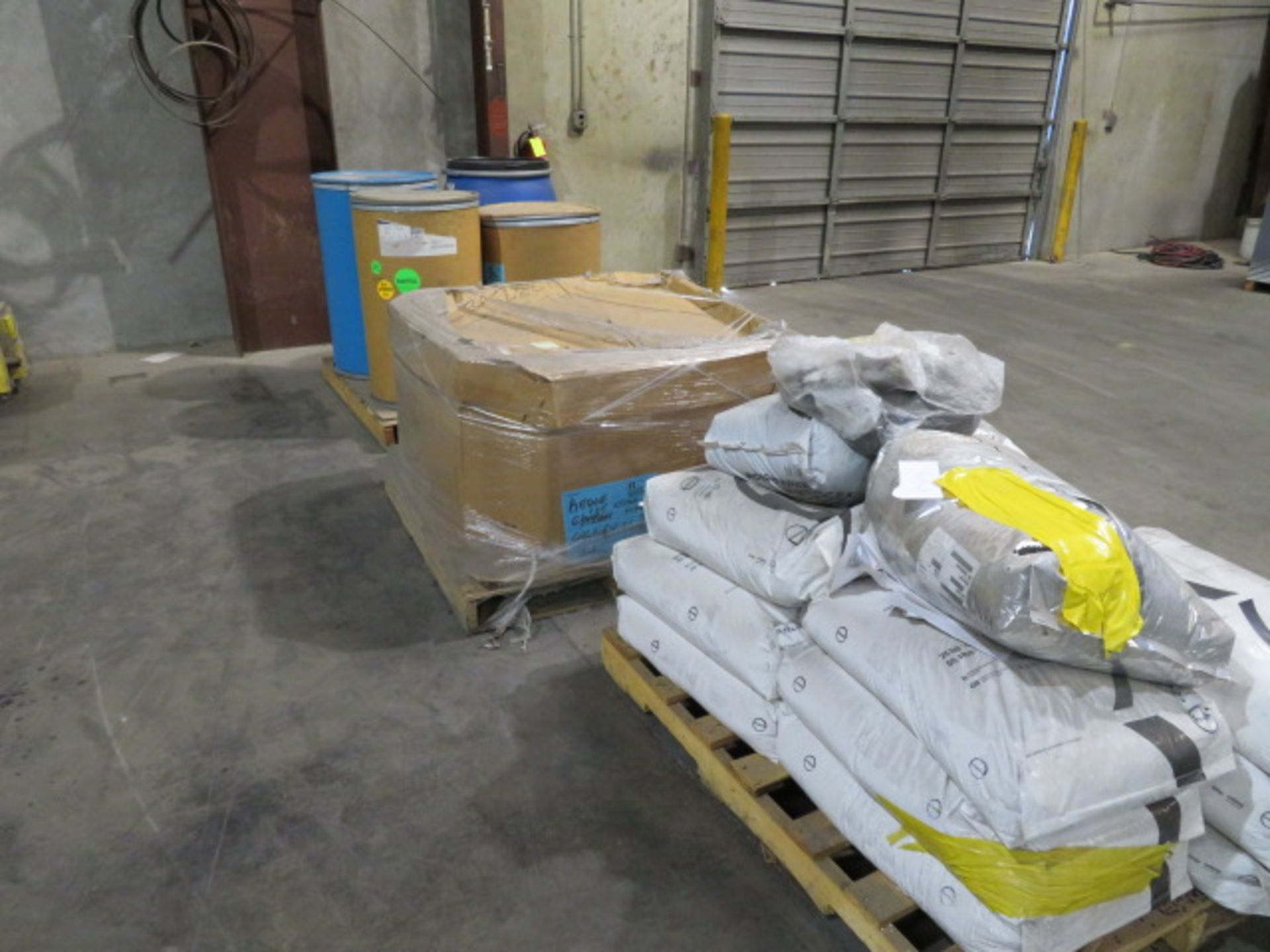 LOT OF PLASTIC MOLD RESIN (on three pallets)