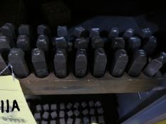 """LOT OF LETTER/NUMBER PUNCHES, 3/8"""" (incomplete)"""