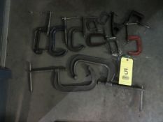 LOT OF C-CLAMPS (11)