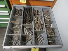 LOT CONSISTING OF: assorted drills & counterbores (located in drawer 7)