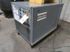 AIR COMPRESSOR, ATLAS COPCO MDL. GA18, 128 PSI, 25 HP motor, air cooled, noise