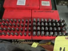 """LOT OF LETTER/NUMBER PUNCHES: 1/8"""", 1/4"""", 3/8"""""""