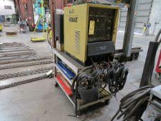 TIG WELDER, HOBART MDL. TIGWAVE 250ACDC, 250 amps @ 30 v., 40% duty cycle, chiller unit, foot pedal,