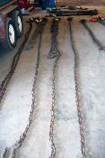 """2-LEG CHAIN SLING, 30', 1/2"""" chain"""
