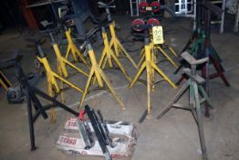 LOT OF PIPE STANDS: V-style & roller