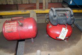 PORTABLE AIR COMPRESSOR, PORTA-CABLE, 150 PSI, w/air receiving tank