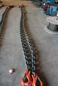 """2-LEG CHAIN SLING, 20', 3/4"""" chain, 70,600 lb. cap."""
