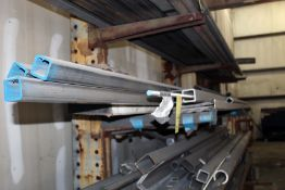 """LOT OF STAINLESS STEEL, 2"""" x 25' x 1/4 sq. tubing, assorted"""
