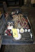 LOT CONSISTING OF: holesaw sets, pneumatic nailer, pulleys