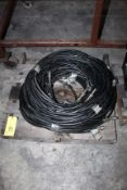 LOT OF HYDRAULIC HOSES, w/quick disconnect couplers