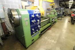 """HOLLOW SPINDLE ENGINE LATHE, KINGSTON MDL. HI29120, new 11/2008, 10"""" hole, front & rear 25"""" 4-"""