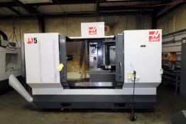 """4-AXIS HORIZONTAL MACHINING CENTER, HAAS MDL. ES5-4AX, new 10/2011, 20"""" x 52"""" fixed table w/12"""""""