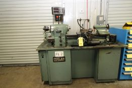 PRECISION TOOLROOM LATHE, FEELER MDL. FTL-618E, new 1985, 1-1/2 HP motor, lever type collet