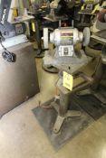 """PEDESTAL BENCH GRINDER, CRAFTSMAN 6"""", 1/5 HP motor, set-up for polishing"""