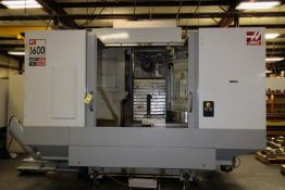 """4-AXIS HORIZONTAL MACHINING CENTER, HAAS MDL. EC1600-4X, new 1/2009, 64"""" x 36"""" table, 30"""" built-in"""