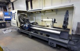 """CNC ELECTRONIC LATHE, WEILER MDL. E70X3000, new 2007, 28"""" sw. over bed, 16.9"""" sw. over crosslide,"""