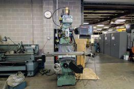 "CNC KNEE STYLE MILL, TRAK MDL. K3, Prototrak SMX CNC control, programmable spdl., 10 x 50"" table,"