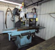 """CNC BED TYPE VERTICAL TURRET MILL, TRAK MDL. DPM5, 10"""" x 50"""" table, No. 40 NST spdl., 5 HP"""