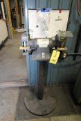"PEDESTAL BENCH GRINDER, DAYTON 8"", 3/4 HP motor"