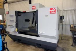 """4-AXIS HORIZONTAL MACHINING CENTER, HAAS MDL. ES5-4AX, new 4/2012, 20"""" x 52"""" fixed table w/12"""""""