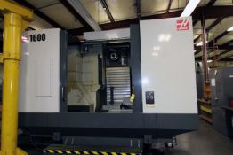 """4-AXIS HORIZONTAL MACHINING CENTER, HAAS MDL. EC1600, new 10/2012, 64"""" x 36"""" table, 30"""" built-in"""
