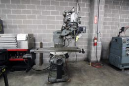 """CNC KNEE STYLE MILL, BRIDGEPORT, 9"""" x 48"""" table, Trak Mdl. AGE2 control, 2-axis pwr. feed, S/N"""