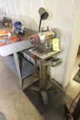 """PEDESTAL BENCH GRINDER, CRAFTSMAN 6"""", 1/2 HP motor, set-up for polishing"""