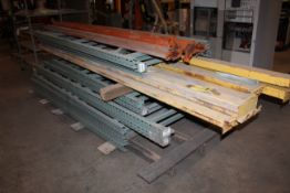 LOT CONSISTING OF: pallet rack uprights & cross beams, assorted heights - 10' & 8' (Located at: