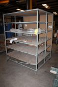 ROLLING MATERIAL CART, 6-tier, 4' dp. x 5'W., carpeted shelves (Located at: Accurate, Inc., 1200