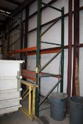 LOT CONSISTING OF: pallet rack section & additional yellow uprights (in front) (Located at: