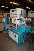 HEATED ROLLER PRESS, adj. roller temp., down molder temp., up molder temp. digital timers (Located