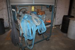 ROLLING CART, w/rigging chains, come-along hoists, shackles & hooks (Located at: Accurate, Inc.,