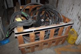 WOODEN CRATE, w/H.D. electrical conduit, welding leads & air hose (Located at: Accurate, Inc.,