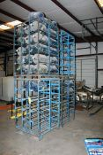 LOT OF METAL WATER BOTTLE STORAGE RACKS (4) (large) (Located at: Accurate, Inc., 1200 East 4th