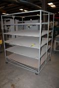 ROLLING MATERIAL RACK, 4' dp. x 5'W. (Located at: Accurate, Inc., 1200 East 4th Street, Taylor, TX