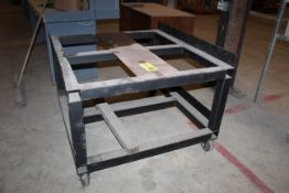 """METAL MATERIAL HANDLING CART, 48'W. x 50""""L., 2-tier (Located at: Accurate, Inc., 1200 East 4th"""